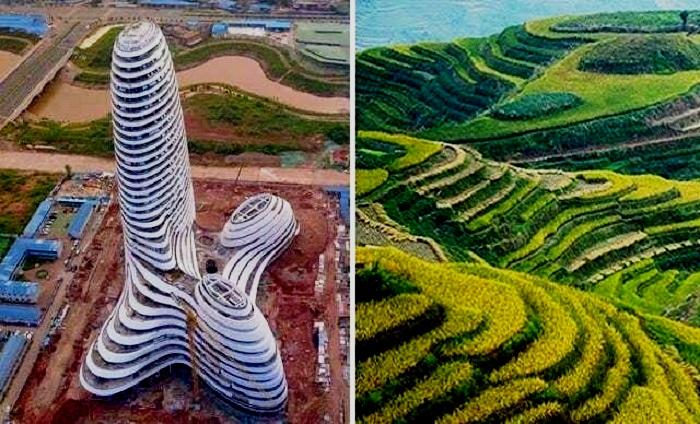 Архитектор пытался воссоздать ландшафт родной провинции Гуанси (Китай).